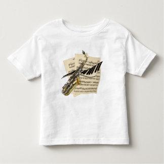 T-shirt Pour Les Tous Petits Saxophone et piano de musiciens