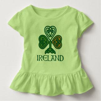 T-shirt Pour Les Tous Petits Shamrock - drapeau irlandais