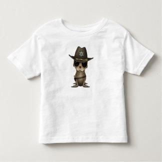 T-shirt Pour Les Tous Petits Shérif mignon d'otarie de bébé