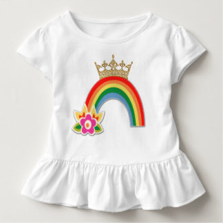T-shirt Pour Les Tous Petits Shirts mignon d'arc-en-ciel de petites filles de