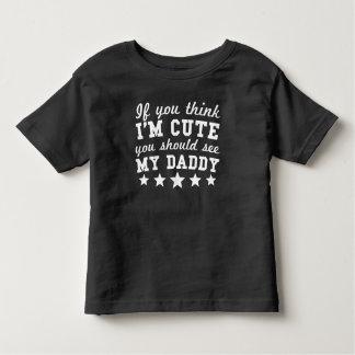 T-shirt Pour Les Tous Petits Si vous pensez que je suis mignon vous devriez