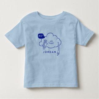 T-shirt Pour Les Tous Petits Sourire de type de nuage des trolls |