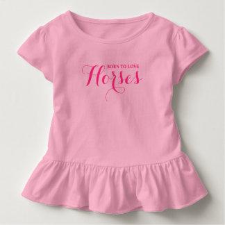 T-shirt Pour Les Tous Petits Soutenu pour aimer des chevaux