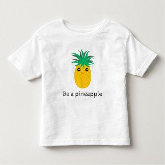 T-shirt Pour Les Tous Petits Soyez un support d'ananas grand soit doux