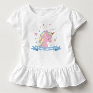 """T-shirt Pour Les Tous Petits Tee - shirt de licorne - """"faites la magie se"""