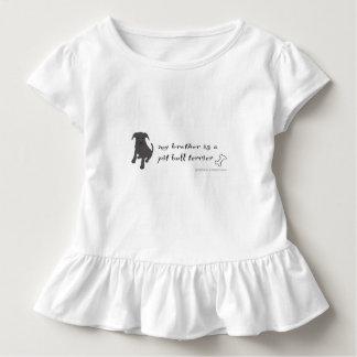 T-shirt Pour Les Tous Petits terrier de pitbull