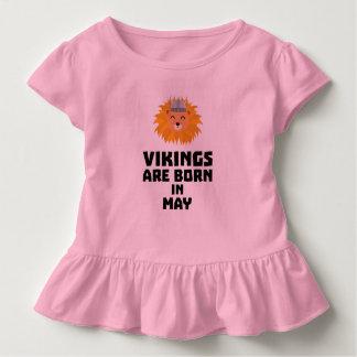 T-shirt Pour Les Tous Petits Vikings sont en mai Z30b1 nés