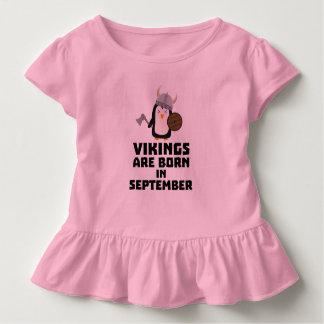 T-shirt Pour Les Tous Petits Vikings sont en septembre Zzu23 nés