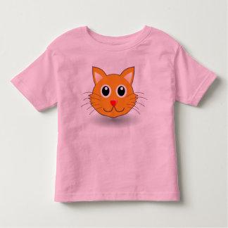 T-shirt Pour Les Tous Petits Visage orange de minou