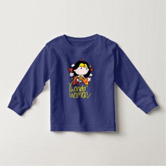 T-shirt Pour Les Tous Petits Vol de femme de merveille de Chibi avec le lasso