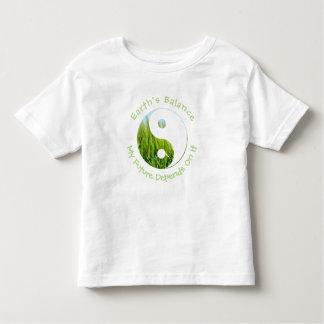 T-shirt Pour Les Tous Petits Yin Yang - l'équilibre de la terre mon avenir