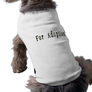 T-shirt Pour l'habillement d'animal familier d'adoption