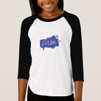 T-shirt Pourpre de pièce en t du base-ball de la fille de