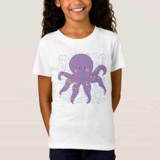 T-shirt pourpre de poulpe