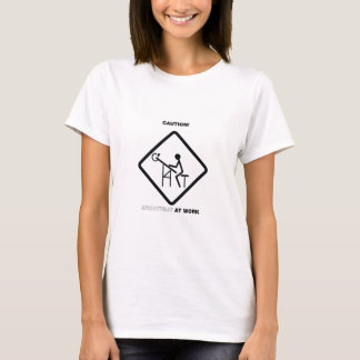 T-shirt Précaution ! Architecte au travail