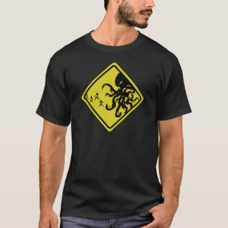 T-shirt Précaution ! Cthulhu !