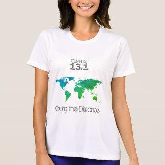 T-shirt Première du semi-marathon du couple chemise
