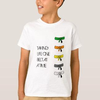 T-shirt Prenant à la vie une ceinture à la fois BJJ badine