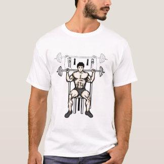 T-shirt press_behind_neck