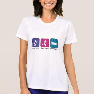 T-shirt Priez, courez, des repos-dames
