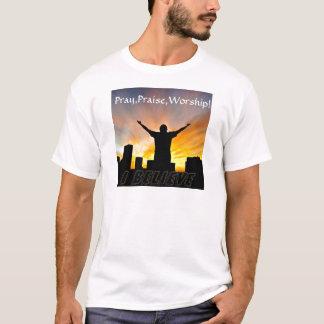 T-shirt Priez, félicitez, adorez ! _
