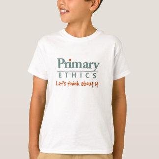 T-shirt primaire d'éthique pour des enfants