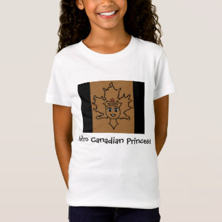 T-Shirt Princesse canadienne Tee d'Afro