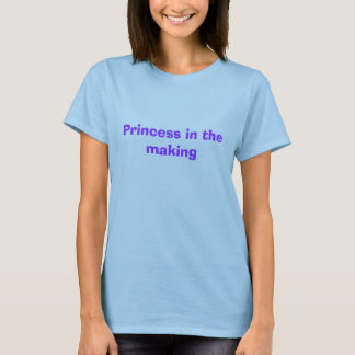 T-shirt Princesse dans la fabrication
