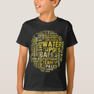 T-shirt Produits de nuage de mot de polo d'eau