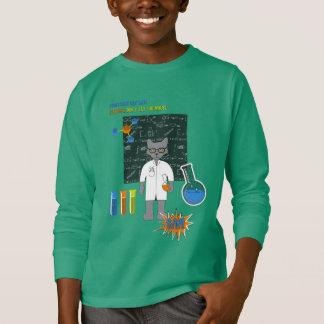T-shirt Professeur Cat Long Sleeve Shirt (foncée)