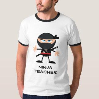 T-shirt Professeur personnalisé de Ninja de bande dessinée