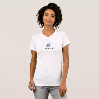 T-shirt Profil de Shaaark et titre - whiteT-chemise de