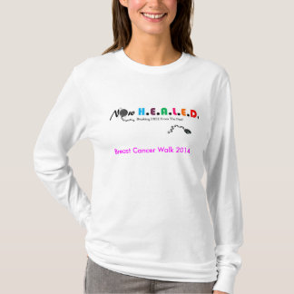 T-shirt Promenade maintenant GUÉRIE T de cancer du sein