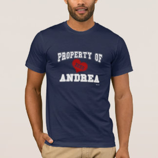 T-shirt Propriété d'Andrea