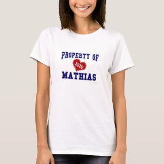 T-shirt Propriété de Mathias