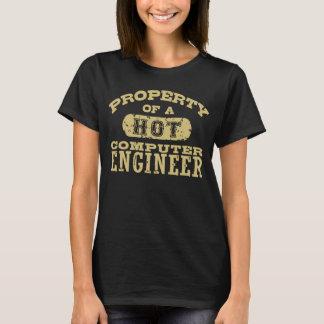 T-shirt Propriété d'un ingénieur informaticien chaud