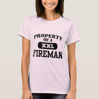 T-shirt Propriété d'un pompier