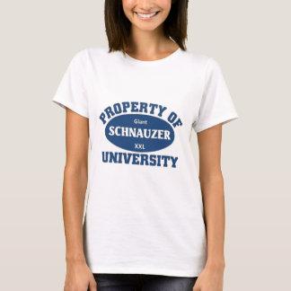 T-shirt Propriété d'université de Schnauzer géant