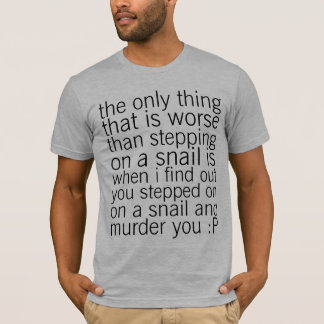 T-shirt protégez les escargots