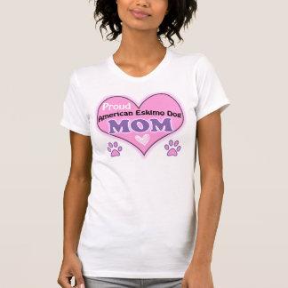 T-shirt Proud American Esquimau le Dog Mom