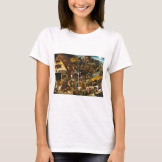 T-shirt Proverbes de Bruegel Netherlandish