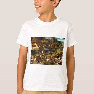 T-shirt Proverbes de Netherlandish par Pieter Bruegel