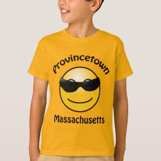 T-shirt Provincetown, le Massachusetts Smilie badine le