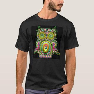T-shirt psychédélique de Popart de hibou