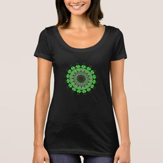 T-Shirt Psychédélique Mandala Chakra Vert