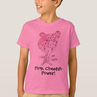 T-shirt Puissance rose de guépard !