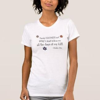 T-shirt Qualité et pitié - 23:6 de psaume (blanc)