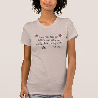 T-shirt Qualité et pitié - 23:6 de psaume (mauve)