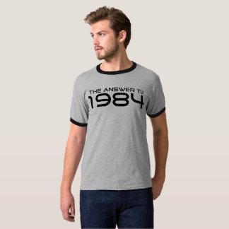 """T-shirt Qualité """"la réponse à 1984"""" pièces en t"""