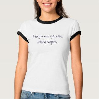 T-shirt Quand vous souhait sur une étoile ? - Customisé
